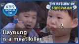 Hayoung is a meat killer! [The Return of Superman/ ENG / 2020.09.27]